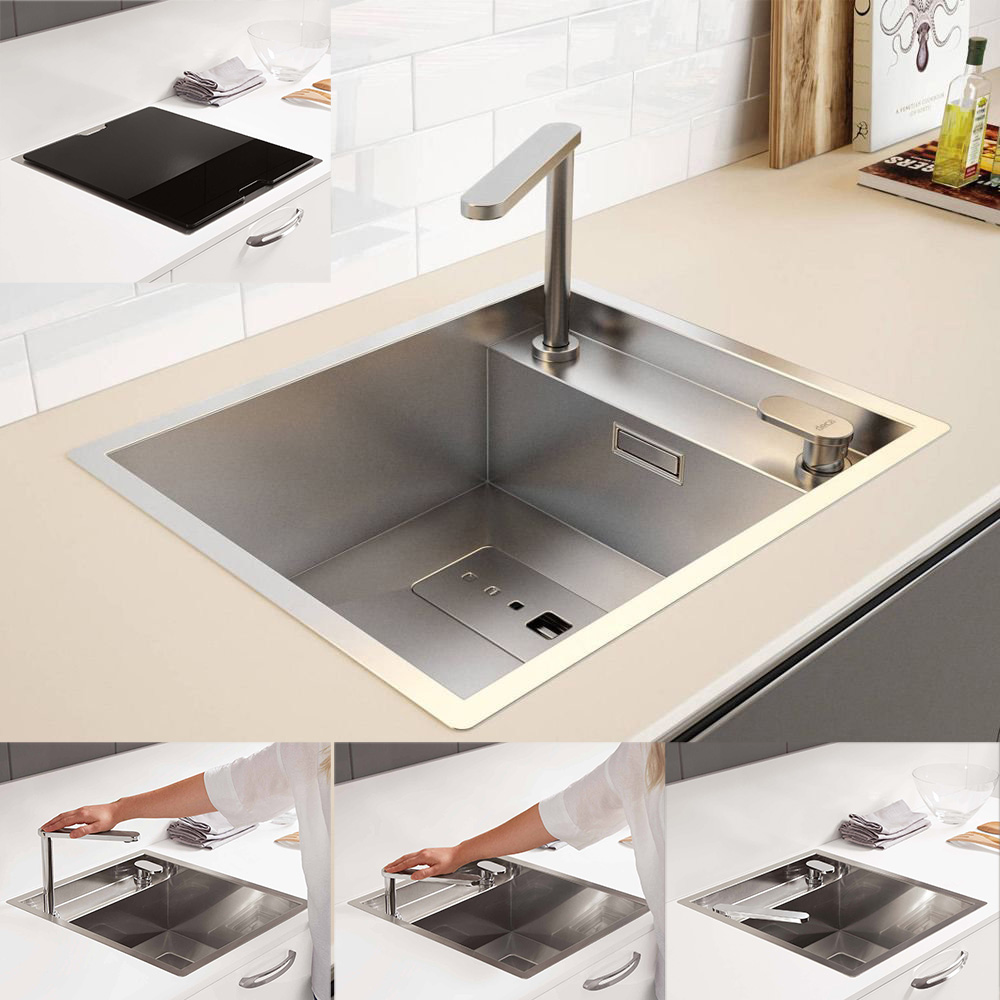 Chiuveta-Bucatarie-CookingAid-Invisible-40R-baterie-retractabila-montaj-sub-geam