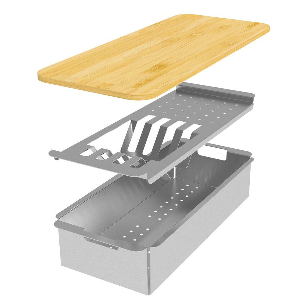 CookingAid-Master-Box-Una-Lux-Line-Easy-Drainer-Colander-Tocator-Lemn